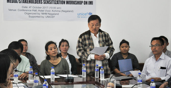 "Kohima nung ""Intensified Mission Indradhanush"" workshop agi"