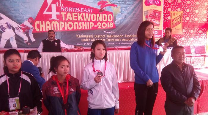 4buba Northeast Taekwondo Championship nung Nagaland-i medal 24 angu